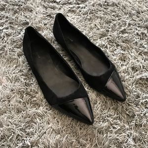 Cole Haan Pointy Toe Velvet Flats, 8.5 B